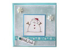 Julekort - lille snømann