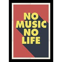 No music Cadre 30x40cm
