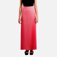 Cut from a coral coloured crepe fabric, the Cosmic Dancer Maxi Skirt features a whimsical flow created by pleats that extend through the length of the skirt, and enhanced by the lightness of the material. Black Eyed Susan, Crepe Fabric, Coral Color, Short Skirts, Cosmic, Dancer, School, Clothes, Women