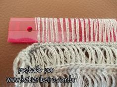Interesting technique, but not Hairpin Lace Broomstick Lace Crochet with a Ruler Tutorial, use translate. Crochet with the ruler - yes, that is indeed possible. In my search for an effective pattern for a scarf I noticed this crochet technique and I wante Hairpin Lace Crochet, Hairpin Lace Patterns, Broomstick Lace Crochet, Form Crochet, Crochet Yarn, Crochet Flowers, Crochet Stitches Patterns, Stitch Patterns, Crochet Instructions