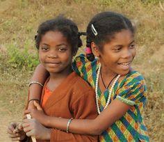 Smiling Girls from the Siddi Tribe of Dandeli.