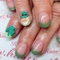 Nails By Rumi Gelnail Himenail Stpatricksdaynails Stpatric Saintpatrick クローバーネイル Gelnails Himenails Tustin Ca Art ネイル Love Oc