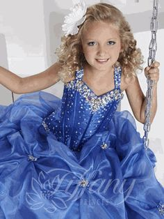 Pageant Dresses for Girls - 13326 - NEW STYLE - Light Pink or Royal Blue - 4 6 14 16