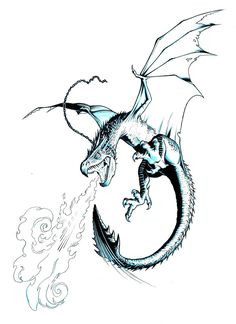 Hungarian Horntail Drawing | HUNGARIAN HORNTAIL FIRE by Jerome-K-Moore totally want a tattoo like this someday
