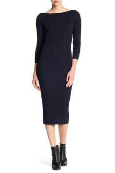 Delissa Prosecco Ribbed Knit Dress by Theory on @nordstrom_rack