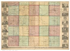 Ashtabula County Ohio 1856 - Wall Map Reprint with Homeowner Names - Farm Lines- INCOMPLETE. This partial map of Ashtabula County Ohio was published in 1856 by Robert Pearsall Smith. It shows the roads, houses and businesses with the owner's name. The reprint, from the original on file at the Library of Congress, shows only the lower half of the original map . We have done minor edits to the electronic file to make this more presentable, such as removing fold lines where the map was…