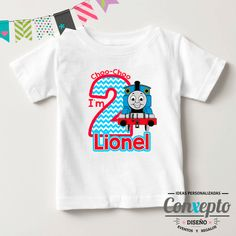 Playera TA Cumple Thomas Decoracion De Dinosaurios Fiestas 980751d395db9