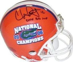 Chris Leak signed Florida Gators Replica Mini Helmet w/ National Champs Logo & 2006 BCS MVP - Autographed College Mini Helmets by Sports Memorabilia. $58.78. In the 2006 season Chris Leak led the Gators to their first SEC Championship since 2000, and a spot in the 2007 BCS National Championship Game against Ohio State University. Leak also broke many University of Florida passing records set by Heisman Trophy winner Danny Wuerffel. He eclipsed Wuerffel's record for career ...