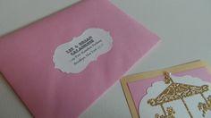 http://loveisindetailsblog.com/2015/04/19/mias-vintage-carousel-1st-birthday/  Vintage Carousel First Birthday Pink and Gold Glitter Invitations