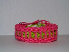 Rainbow Loom Pink Ladder Bracelet