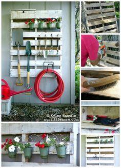 haveredskaber kan hænge på en eu-palle #haveredskaber og en eu palle