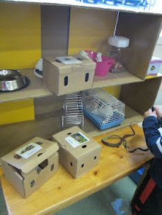 Pet store dramatic play, visit a pet store, then do pretend play: best place to get a pet (store, owner, or shelter) - - explain why Dramatic Play Area, Dramatic Play Centers, Class Pet, Kids Play Spaces, Preschool At Home, Play Centre, Animal Projects, Learning Through Play, Imaginative Play