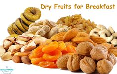 Dry fruits possess a lot of medicinal properties because of the ample amount of nutrients that are present in them. Having them for breakfast can help in a great way to keep us healthy and fit. Here's how much of each you need to eat: 4-7 Almonds 1-2 Walnuts 1-2 Dates 4-5 Pistachios 3-4 Raisins 1-2 Cashew Nuts
