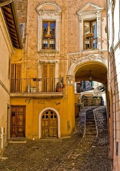 Arched Street - Rome, Italy
