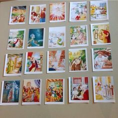 Pictures from My Book of Bible Stories....scramble and put in chronological order. Team that does it the fastest wins!