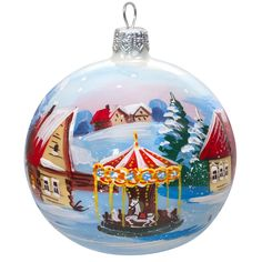 Carousel Ball Christmas Ornament