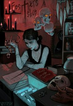 Summer part time job in magic shop Character Inspiration, Character Art, Character Design, Art And Illustration, Under Your Spell, Chica Anime Manga, Witch Art, Witch Aesthetic, Dark Art