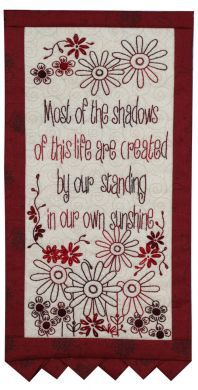 Thoughts Of The Month - Month 3 - Stitchery Pattern