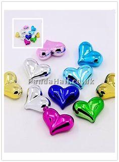 http://www.pinterest.com/pandahalluk/cat-eye-beads/  Acrylic Beads, UV Plating, Heart, Mixed Color, 23x17x9mm