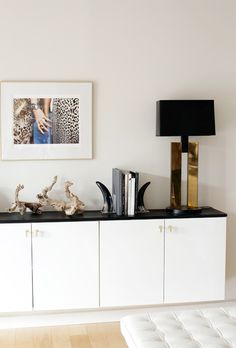 Suzie: Made by Girl - Amazing white floating credenza - Ikea Akurum Cabinets, My Knobs Lewis ...
