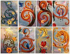 Sergio Menasché conoce el arte del fileteado como la palma de su mano e indudablemente es un talentoso trabajor en su oficio. Desarrolla so... Vintage Images, Vintage Posters, Classic Paintings, Art Pictures, Design Elements, Folk Art, Art Decor, Artsy, Tapestry