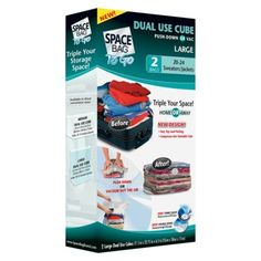 Space Bag To Go Large Dual Use Storage Cubes 2-ct.