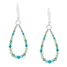Ocean Tide Earrings | cute but I might cover the wire ends with a cone