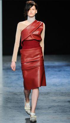 ACNE leather dress