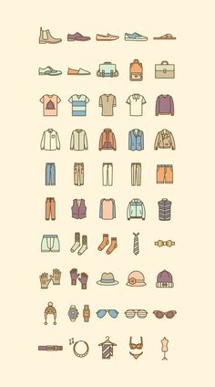The Best Free Fashion Vector Icon Sets Fashion Vector Icon Set Design Ios, Flat Design Icons, Icon Design, Logo Design, Flat Icons, Icon Set, Fashion Vector, Buch Design, Doodles