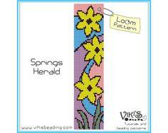 Bead Loom Bracelet Pattern: Springs Herald  INSTANT DOWNLOAD