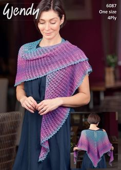 Free Knitting Pattern for a 4ply lace shawl