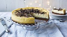 BBC Food - Recipes - White chocolate and ginger cheesecake