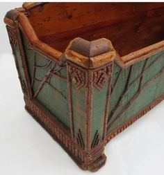 Shop painted furniture and other folk, tribal and outsider art from the world's best furniture dealers. Painting Antique Furniture, Twig Furniture, Adirondack Furniture, Antique Paint, Repurposed Furniture, Painting On Wood, Painted Furniture, Furniture Redo, Painted Wood