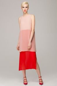 Colour Block Chiffon Dress | Front Row Shop