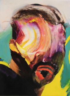 Adrian Ghenie, Self-Portrait, 2016, oil on canvas. ©ADRIAN GHENIE/COURTESY PACE GALLERY