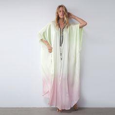 Luxurious silk tie dye caftan