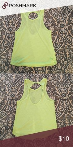 PINK muscle tank VS PINK workout tank. Lime green. PINK Victoria's Secret Tops Muscle Tees