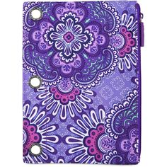 Vera Bradley Pencil Pouch in Lilac Tapestry ($14) ❤ liked on Polyvore featuring home, home decor, office accessories, lilac tapestry, vera bradley, vera bradley pen, fabric pens, fabric pencil and fabric pencil case
