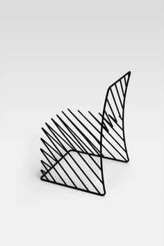 A chair made of lines