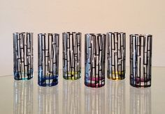 In stock. Hand painted shot glasses. Price is by SpitsnogleDesigns, $50.00