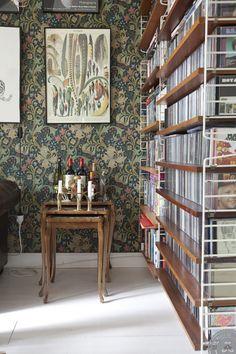 Great bookshelves/room divider  Vintage decor