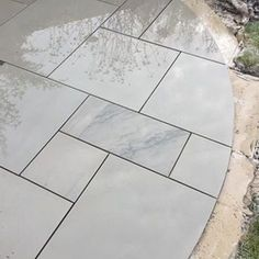 Kandala Grey Sawn Smooth Patio Paving Pack Coverage - inc VAT & FREE Nationwide Delivery - Cheshire Sandstone Outdoor Paving, Outdoor Flooring, Outdoor Gardens, Grey Paving, Sandstone Paving, Garden Inspiration, Garden Ideas, Garden Projects, Garden Pots