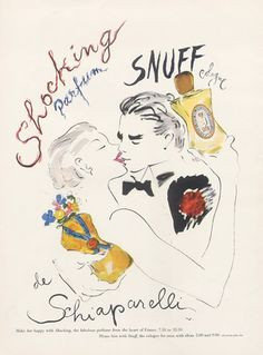 Schiaparelli (Perfumes) 1952 Marcel Vertès, Shocking, Snuff