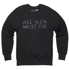 Official Game of Thrones - All Men Must Die Organic Sweat-shirt, Homme