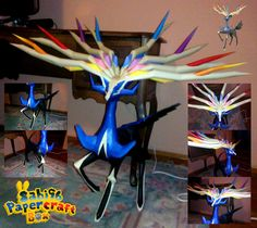 Pokemon - Xerneas Ver.3 Free Papercraft Download - http://www.papercraftsquare.com/pokemon-xerneas-ver-3-free-papercraft-download.html#Pokemon, #Xerneas