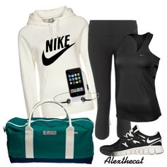 """""""Off to the gym outfit with Hudson Sutler Bag"""" by alexthecat on Polyvore"""