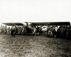 The Spirit of St. Louis arrives at Lambert Field, 17 June 1927. ©Missouri History Museum