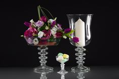 Gabriela Seres- Classic-modern home decor and event handmade glassware Fruit Stands, Hurricane Glass, Candelabra, Special Events, Glass Vase, Candle Holders, Wedding Decorations, Candles, Tableware