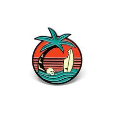 """Endless BUMMER. It's the sister pin to our popular Life's a Beach design. Custom die-cast enamel lapel pin, designed by Charlie Wagers. 1.25"""" x 1.1"""" soft-enamel. Comes with custom backing-card, edition of 100."""
