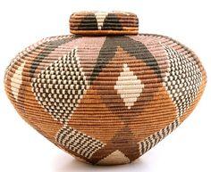 "Isichumo 9"" handmade African basket...  Lovely handiwork !"